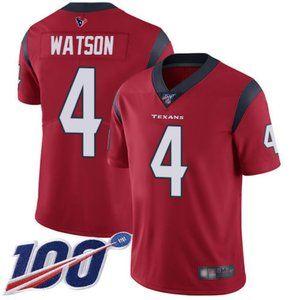 Mens Texans #4 Deshaun Watson 100th Jersey